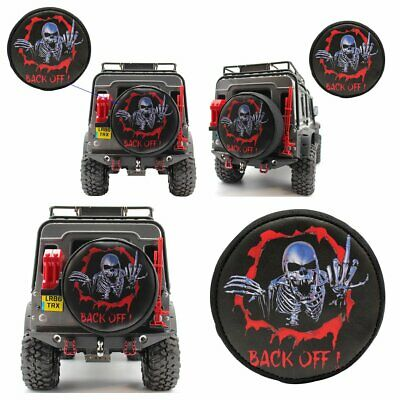 """1.9/"""" Tire Cover /""""BACK OFF/"""" /""""DON/'T TOUCH ME/"""" FOR RC 1:10 Crawler Traxxas TRX-4"""