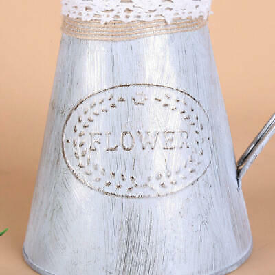 Rustic Iron Jug Vintage Country Style Pitcher Flower Metal Vase Newest 1 Pc