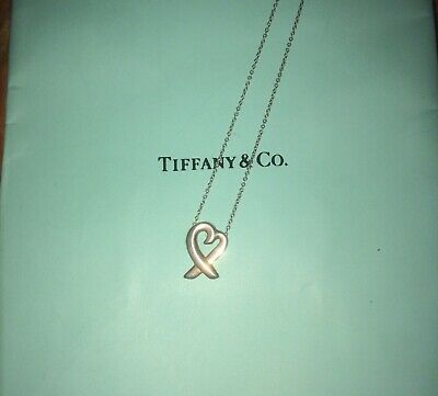 Tiffany & Co. Paloma Picasso Loving Heart Sterling Silver .925 Necklace - 16""