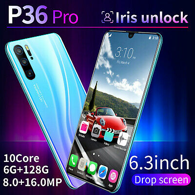 "P36Pro Smartphone Android 9.1 6GB+128GB 6.3"" Mobile SIM Mobile Dual Phone S A2X5"