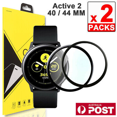 2x Full Coverage Screen Protector Waterproof for Samsung Galaxy Watch Active 2