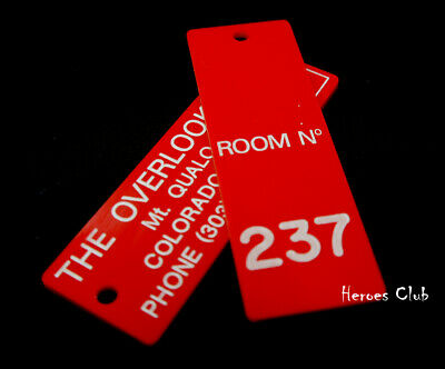 Shining Room 237 Key Tag Prop Replica Overlook Hotel Stanley Kubrick Authentic