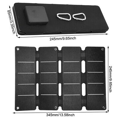 14W 5V Waterproof Double USB Output Folding Bag Solar Charger Charging Panel