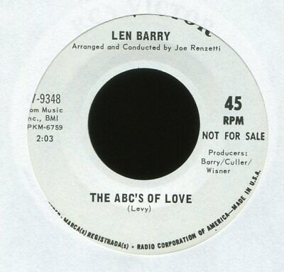 LEN BARRY The ABC's of Love on RCA Promo Northern Soul 45 Hear