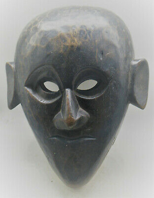Circa 18Th Century Ad Antique African Wooden Tribal Mask Face Of Diety