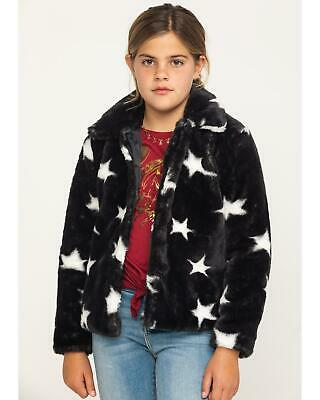 Jack and Anna Girls' and White Star Faux Fur Coat - CD1522