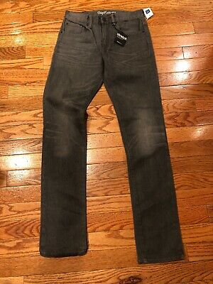 GAP Kids Boys Size 16reg. Gray Distressed Skinny Stretch Jeans New With Tags