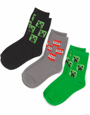 Minecraft Creeper Assorted 3 Pack Boy's Socks