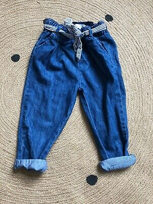 zara baby girl 2 - 3 years Tappered Jean With Spotty Belt