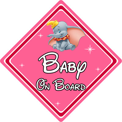 Dumbo DB Personalised Disney Baby On Board Car Sign