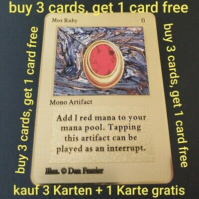 mox ruby magic the gathering karte mtg card ultra rare mono artifact magic card