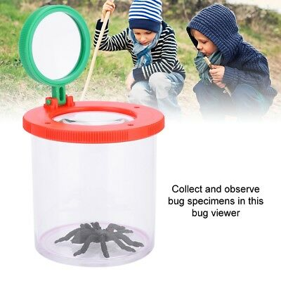 Insect Viewer Box Bug Catcher Magnifier Microscope Box Educational Toy for Kids☆