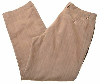 FRED PERRY Mens Trousers IT 50 W34 L30 Brown Cotton Vintage MK10