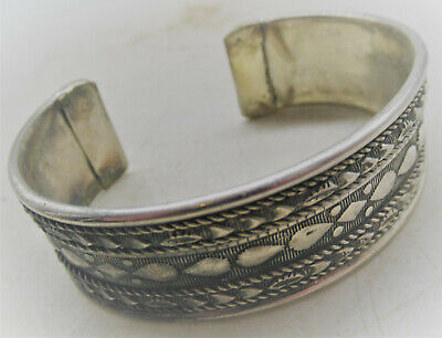 Beautiful Post Medieval Islamic Silver Decorated Bracelet 1700-1800Ad