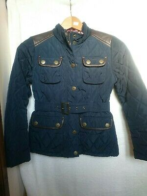 NEXT girls navy quilted jacket aged 9-10 years