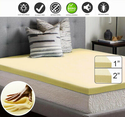 Orthopaedic 100% Memory Foam Mattress Topper All Sizes & Depths Available