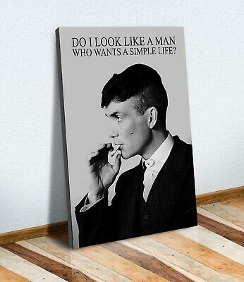 Peaky Blinders Thomas Shelby CANVAS WALL ART PRINT ARTWORK PAINTING FRAMED QUOTE