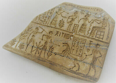 Circa 2000Bc Ancient Near Eastern Stone Tablet With Early Form Of Writing
