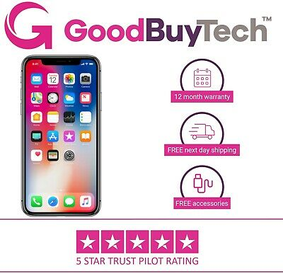 Apple iPhone X 64GB 256GB  Unlocked SIM Free Official Colours