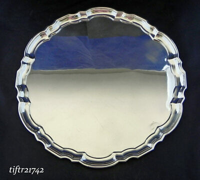 "Tiffany & Co. Makers Sterling .925 12"" Tray Platter 21742 Chippendale - No Mono"
