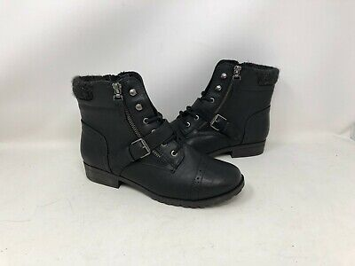 NEW! SO Women's Hackberry Casual Winter Boots Black#73277 117FG ty