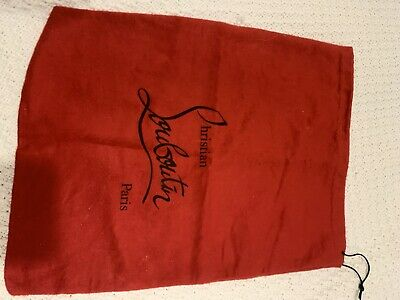 "Christian Louboutin Shoe Dust Bag Red 14.5""x9"""