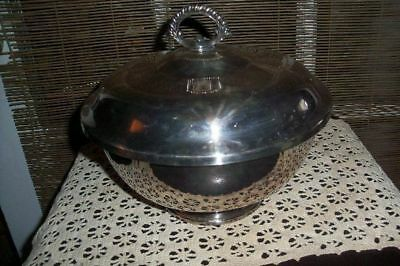 Reed & Barton Large Covered Serving Dish Silverplate Lidded Dish