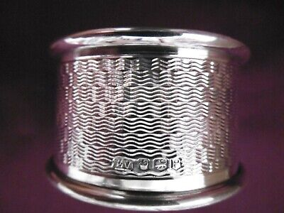 Lovely Solid 925 Silver Napkin Ring Sheffield 1957