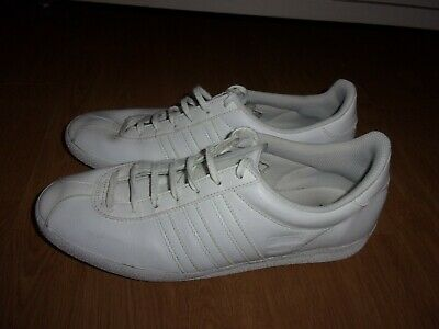 Adidas Originals Gazelle White leather mens trainers size 7