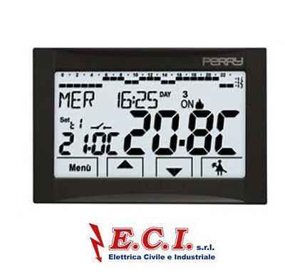 Perry 1CR CDS27 Thermostat Programmable Hebdomadaire Écran Tactile 230V