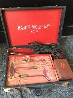 Master Violet Ray no. 11 Quack Electric Medical Device Antique Hand Held