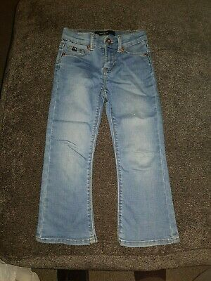 Girls Bootcut Jeans. Age 4 Years. Kids jeans trousers. Worn condition