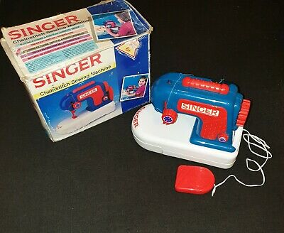 Singer Chainstitch Complete Kids Sewing Machine Vintage Retro Boxes Vgc Free P&P