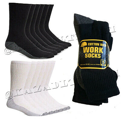Mens Industrial Crew DRI-TECH Boot Work Socks Thick Heavy Winter 6-11/ 11-14 lot