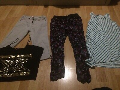 girls clothing age 7-8 years 4 Items Bundle Trousers Tops