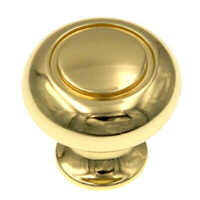 "Amerock Allison Polished Brass 1 1/4"" Round Cabinet Pull Knob BP530113"
