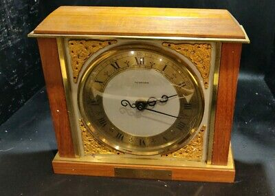 Tempora Mantle Clock 35th Retirement Railway Leaving Gift With Plaque