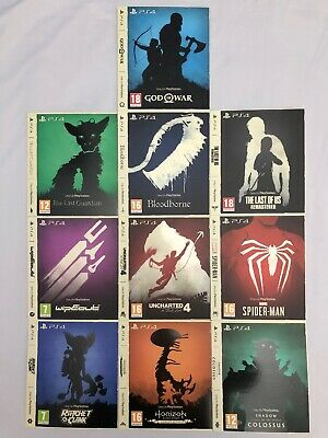 The Only On PlayStation Collection Ltd Edition Artwork / Sleeves Full Set Of 10