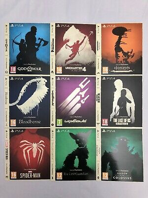 The Only On PlayStation Collection Ltd Edition Artwork / Sleeves Set Of 9