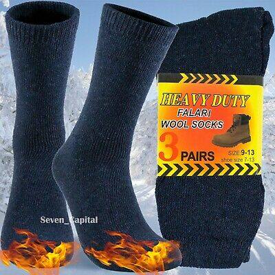 3 Pairs Mens Heavy Duty Winter Warm Thermal Work Cotton Wool Boots Socks 9-13