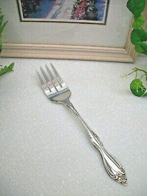 Oneida Silver Wm. A. Rogers  OLD SOUTH  Silverplate Cold Meat Serving Fork  1949