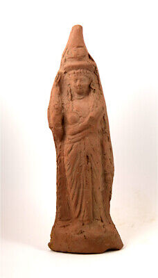 Romano-Egyptian large terracotta statuette of Isis-Aphrodite