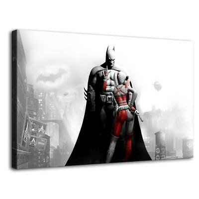 "12""x20""harley quinn arkham HD Canvas prints Painting Home Decor Room Wall art"