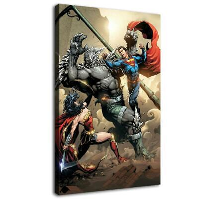 "12""x20""wonder woman Superman HD Canvas prints Painting Home decor Room Wall art"