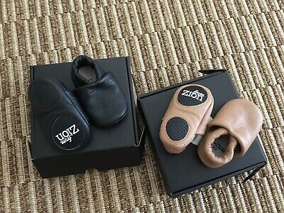 Zion - 2 X Pairs Baby Leather Mocassins Shoes  - Sz 0 - 2