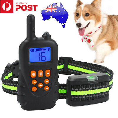 Anti-Bark Electric Shock Dog Pet Training E-Collar Remote Control Rechargeable