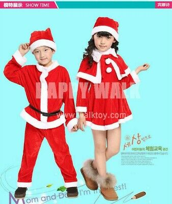 Cosplay costume boys and girls Santa Claus performance dress suit party dress
