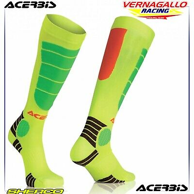 Calza Calzettone Mx Enduro Impact Kid - L/Xl 35/38 - Acerbis Junior Socks Fluo