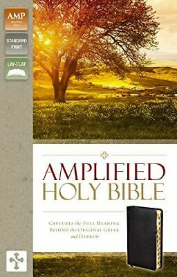 Amplified Holy Bible, Bonded Leather, Black, Indexed NEW