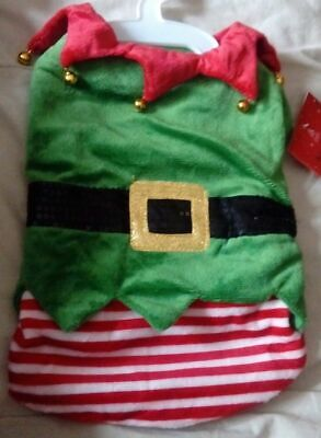 *SALE* NEW - DOG PUPPY PET CHRISTMAS XMAS OUTFIT ELF GREEN - SMALL 28cm